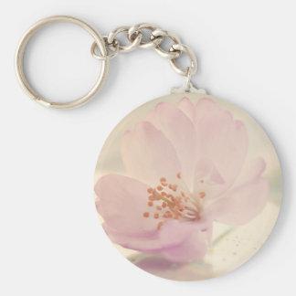 Delicate Soft Pink Cherry Blossom Flower Keychain