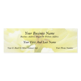 Delicate Spring Daffodil Double-Sided Mini Business Cards (Pack Of 20)
