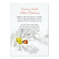 Delicate Spring Daisy Ladybug Wedding Invitation (<em>$2.38</em>)