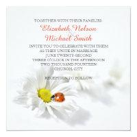 Delicate Spring Daisy Ladybug Wedding Invitation (<em>$2.58</em>)