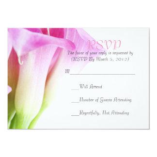 Delicate Spring Pink Calla RSVP Card