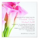 Delicate Spring Pink Calla Wedding Invitation