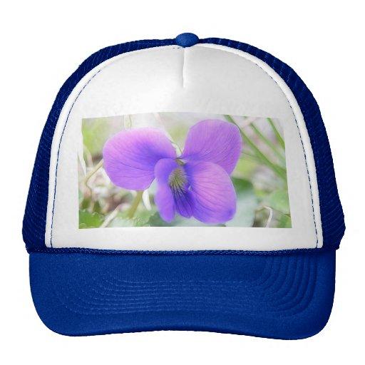 Delicate Spring Violet Trucker Hat