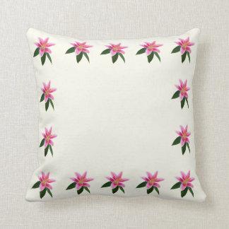 Delicate Stargazer Lily Throw Pillow