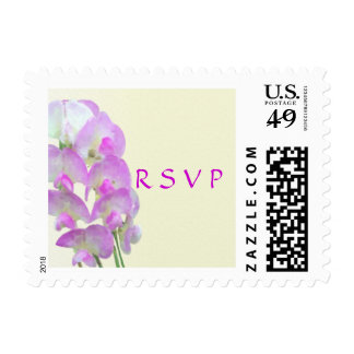 Delicate Sweet Pea RSVP Wedding Stamps