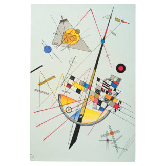 Delicate Tension by Wassily Kandinsky Metal Print