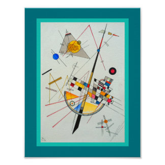 Delicate Tension by Wassily Kandinsky Poster