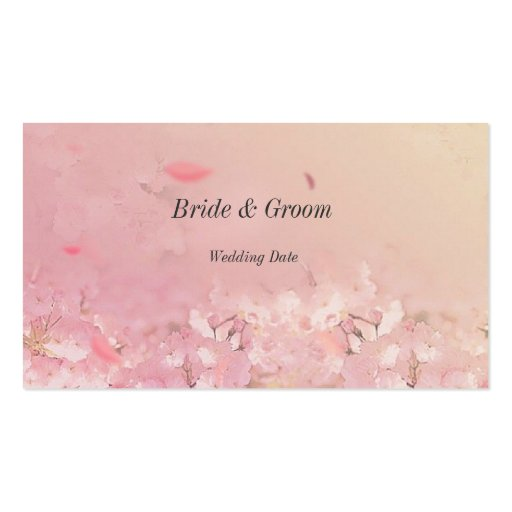 Delicate Thank You Wedding Favor Tag Business Card