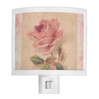 Delicate Victorian Pink Rose Night Lite
