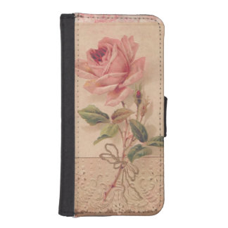 Delicate Victorian Pink Rose iPhone SE/5/5s Wallet