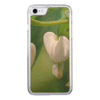 Delicate White Bleeding Heart Carved iPhone 7 Case