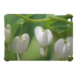 Delicate White Bleeding Heart iPad Mini Cover