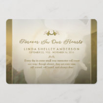 Delicate White Golden Rose Thank You Sympathy Card