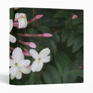 Delicate White Jasmine Blossom with Green Backgrou Binder
