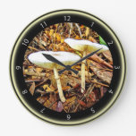 Delicate White Mushroom Clock