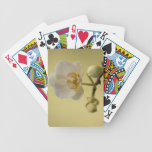Delicate White Orchid Bicycle Card Deck
