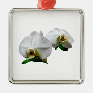 Delicate White Orchids Christmas Tree Ornament