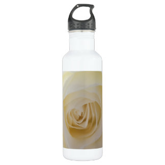 Delicate White Rose Photograph Water Bottle