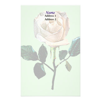 Delicate White Rose Wedding Products Stationery