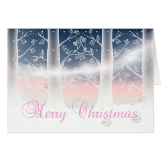 Delicate Winter Christmas Card