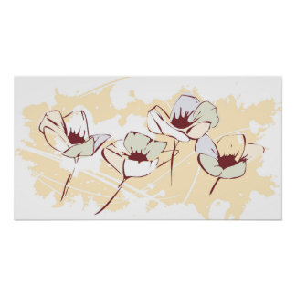 Delicated Flowers - Wall Art Posters