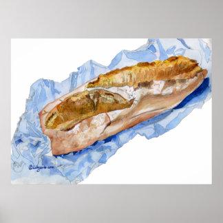 ¡Delicioso! Impresión del poster del pan del pan f