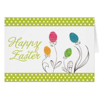 Delicious and Sweet Easter Egg Plants with Green Greeting Cards