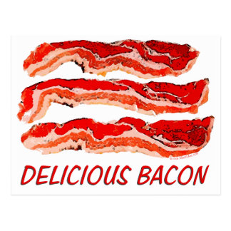 Delicious Bacon Postcard