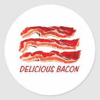 Delicious Bacon Round Stickers
