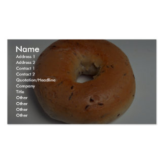 Delicious Bagel Double-Sided Standard Business Cards (Pack Of 100)