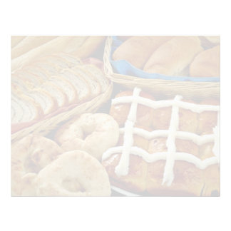 Delicious Baked goods: bagels, rolls, hot crossed Customized Letterhead