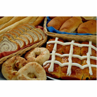 Delicious Baked goods: bagels, rolls, hot crossed Photo Cutouts