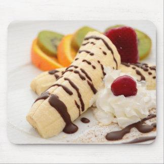 Delicious Banana Dessert Mouse Pad