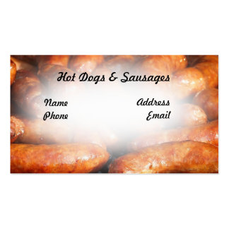 Delicious Barbecued Sausages and Hot Dogs Business Card