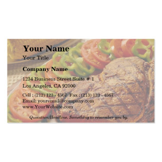 Delicious Beef roast with corn Business Cards