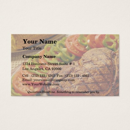 Delicious Beef roast with corn Business Card