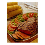 Delicious Beef roast with corn Post Cards