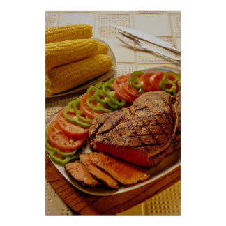 Delicious Beef roast with corn Posters