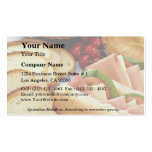 Delicious Bread, sandwiches, pie and cookies Double-Sided Standard Business Cards (Pack Of 100)