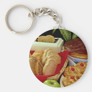 Delicious Breads, rolls, cream pie, macaroons and Key Chain