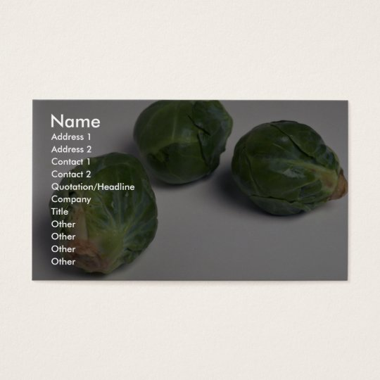 Delicious Brussel sprouts Business Card