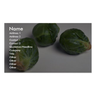 Delicious Brussel sprouts Business Card Templates