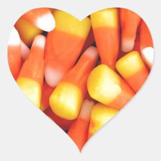 Delicious Candy Corn Heart Sticker