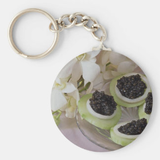 Delicious Caviar for food lovers Basic Round Button Keychain