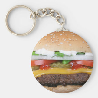 delicious cheeseburger with pickles photograph keychain