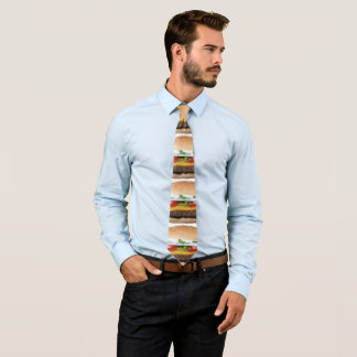 delicious cheeseburger with pickles photograph tie