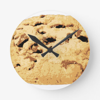 Delicious Chocolate Chip Cookie Round Wall Clocks