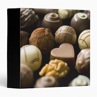 Delicious chocolate pralines 3 ring binder