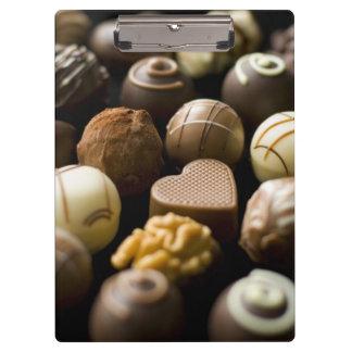 Delicious chocolate pralines clipboard
