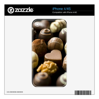 Delicious chocolate pralines decals for the iPhone 4S